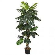 kunstpflanzen-discount.com Monstera deliciosa Kunstbaum 160cm mit Topf und 34 Blätter - künstliche Baum Kunstbaum