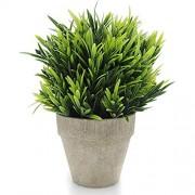 Velener Künstliche Pflanzen Fake Mini Topfgras Arrangements für Home Decor grün Luohan