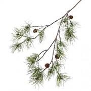 artplants.de Kunst Kieferzweig PIXY mit Zapfen 110cm - Zweig künstlich