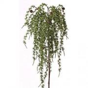 artplants.de Künstlicher Lärchenzweig FENNO Zapfen grün 95cm - Winterdekoration - Künstlicher Zweig