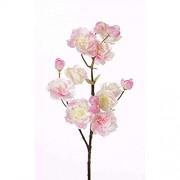 PARC Network - Künstlicher Blütenzweig Kirsche rosa 55cm - Kunstblume Zweig - Deko Kirschblütenzweig - Zierkirsche künstlich - Blumenzweig Künstlich