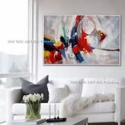 100% handgemachte Moderne Abstrakte Dicken Ölgemälde Auf Leinwand Blau Rot Gelb Messer Malerei Wand Kunst Decor Unframed Malerei und Kalligraphie