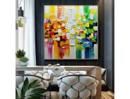 Große Größe wand malerei Handgemalte Landschaft Ölgemälde auf Leinwand Wand Kunst Bilder Für Wohnzimmer Wohnkultur malerei Malerei und Kalligraphie