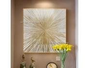 Handgemachte Splitter gold Öl Malerei abstrakte ölgemälde auf leinwand wand Kunst Leinwand bild Für wohnzimmer schlafzimmer Einzigartiges geschenk Malerei und Kalligraphie