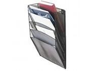 MIAOLIANG Zeitschriften- & Zeitungshalter Metall 5 Slot Wand Zeitungsständer Halter Silber