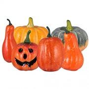 Healifty 6 Stück Halloween Kürbis Dekorationen Künstliche Kürbisse Requisiten Gefälschte Schaum Gemüse Ornamente für Photoy Requisiten Party Wohnkultur