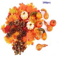 Ttiy Halloween Künstliche Kürbisse Thanksgiving Dekoration Fake Kürbisse Mischung Künstliches Gemüse Erntedankfest Herbst Ernte Dekoration Home Tischdekorationen 166