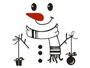 CHUCHEN Kühlschrank-Aufkleber Motiv: Frohe Weihnachten Schneemann wasserdicht 2 Stück