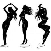 Hhuycvff vwuig Attraktive Frau tanzen Mode PVC Schalter Aufkleber Wandtattoo054