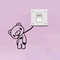 Hhuycvff vwuig Bär PVC Die Aufkleber Aufkleber Wandschalter Schlafzimmer Wohnzimmer Dekor
