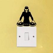 Hhuycvff vwuig DJ Electronic Rave Persönlichkeit Dekor Raum PVC Lichtschalter Aufkleber Wandtattoos13