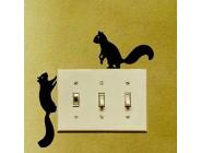 Hhuycvff vwuig Eichhörnchen wandernde PVC Schlafzimmer Schalter Aufkleber abnehmbare Home Decoration Wandaufkleber 2WS04