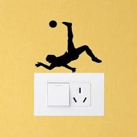 Hhuycvff vwuig Fitnessstudio Sport Fußballspieler PVC Schlafzimmer Dekor Wandtattoos Schalter Aufkleber14