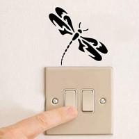 Hhuycvff vwuig Mode Libelle Kreative Schalter Aufkleber Tier Totem PVC Styling Wandaufkleber 2WS0163