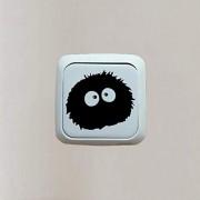 Hhuycvff vwuig PVC Aufkleber Aufkleber Totoro Schalter Aufkleber Schlafzimmer Dekor