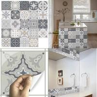 ConBlomi Fliesenaufkleber Mosaik Fliesen-Folie Bad Küche Selbstklebende 3D Fliesen Sticker Wasserdicht Fliesensticker Aufkleber Fliesen Folie für Badezimmer Wohnzimmer 24er Pack 20 x 20cm
