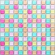 SHINGONE 3D Mosaic Selbstklebende Fliesenaufkleber Backsplash für Küchen Badezimmerschalen und Stick Wandfliesenaufkleber Wasserdicht Rosa4 Stück